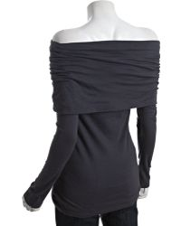 Rebecca Beeson | Smoke Grey Cotton Oversize Cowl Neck Tunic | Lyst