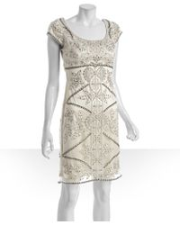 Sue Wong - Blush Sequined Scoop Neck Cap Sleeve Dress - Lyst