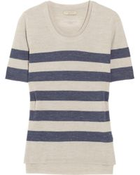 Burberry Brit - Striped Wool and Linen-blend Jumper - Lyst