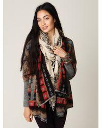 Free People Fairisle Knit Back Cardi - Lyst