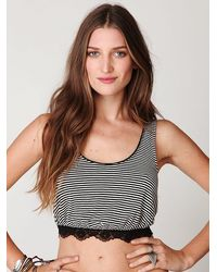Free People Sleeveless Cropped Stripe Top - Lyst