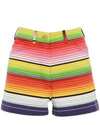 House of Holland - Mexican Striped Cotton Shorts - Lyst
