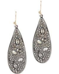 Alexis Bittar Crystal Encrusted Teardrop Earrings - Lyst