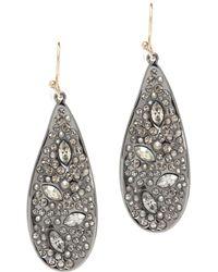 Alexis Bittar | Crystal Encrusted Teardrop Earrings | Lyst