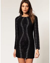 ASOS Collection  Lace Dress with Hook & Eye Detail - Lyst