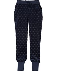 Juicy Couture - Embossed Velour Track Trousers - Lyst