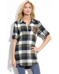 Make + Model Plaid Flannel Nightshirt - Lyst