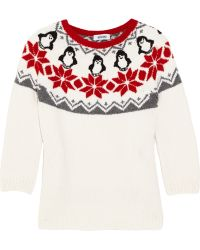 Moschino Penguin Intarsia Wool Sweater - Lyst