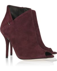 CALVIN KLEIN 205W39NYC - Kella Suede Peep-toe Ankle Boots - Lyst