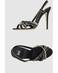 D&G High-heeled Sandals - Lyst