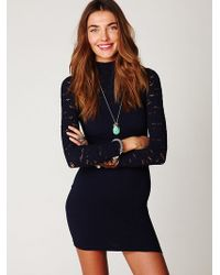 Free People Ginger Long Sleeve High Neck Tunic - Lyst