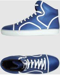 Lanvin High Top Sneakers blue - Lyst