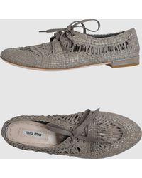 Miu Miu  Laced Shoes - Lyst