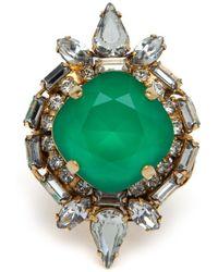 Erickson Beamon - Exclusive Green Stone Ring - Lyst