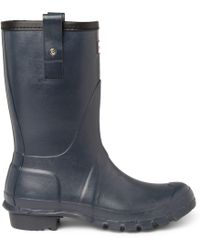 Hunter Original Short Wellington Boots blue - Lyst