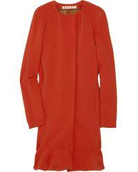 Marni Crepe Wool-blend Coat - Lyst