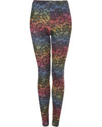 Topshop Rainbow Lace Printed Legging - Lyst