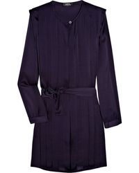 A.P.C. Belted Silk Dress - Lyst