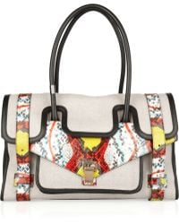 Proenza Schouler Ps1 Keep All Small Canvas and Leather Tote - Lyst