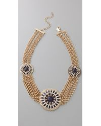 Tuleste - Circle Pendant & Chain Necklace - Lyst