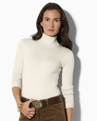 Ash | Lauren By Ralph Lauren Zoe Silk Cashmere Turtleneck Top | Lyst