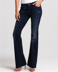 Ash   7 For All Mankind Kimmie Bootcut Jeans with Crystals in New Hereaux Wash   Lyst