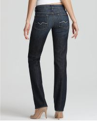 Ash - 7 For All Mankind Straight Leg Jeans in New York Dark Wash - Lyst