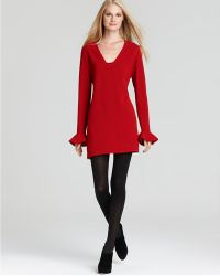 Diane von Furstenberg Hazina V- Neck Long Sleeve Dress - Lyst