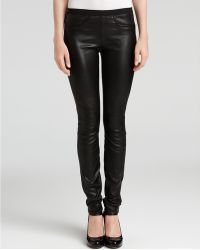 Helmut Lang Skinny Stretch Leather Pants - Lyst