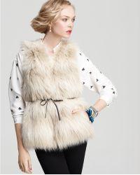 Juicy Couture Polar Faux Fur Vest - Lyst