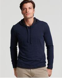 Vince Pima Cotton Jersey Hoodie - Lyst