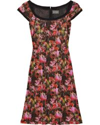 Zac Posen Abstract Printed Jersey Dress - Lyst