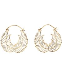 Zoe & Morgan - Wing Hoop Earrings - Lyst