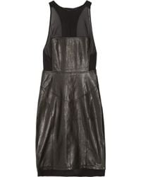 Alexander Wang Leather Racer-back Dress - Lyst