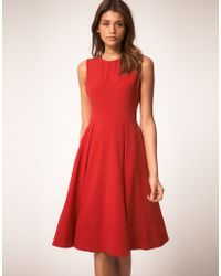 ASOS Collection Asos Midi Dress with Full Skirt - Lyst
