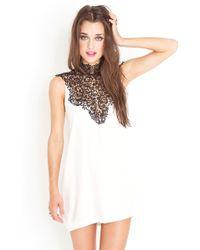 Nasty Gal Tied Crochet Dress - Ivory - Lyst