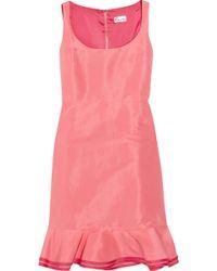 RED Valentino Ruffled Twill Dress - Lyst