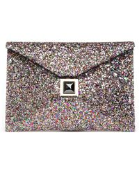 Kara Ross - Exclusive Prunella Glitter Envelope Clutch - Lyst