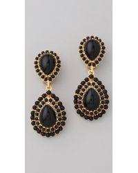 Kenneth Jay Lane Cabochon Teardrop Earrings gold - Lyst