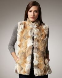 Sofia Cashmere - Coyote Patchwork Vest - Lyst