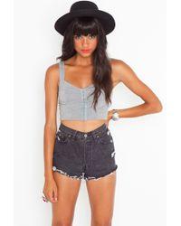 Nasty Gal Vintage Cutoff Shorts - Black - Lyst