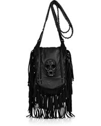 Thomas Wylde - Demonic Suede and Leather Shoulder Bag - Lyst