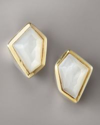 Kara Ross - Mother-of-pearl Earrings, White - Lyst