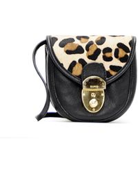 Mango Leather Messenger Handbag - Lyst