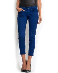 Mango Slim-leg Capri Jeans - Lyst