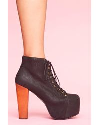 Nasty Gal Jeffrey Campbell Lita Platform Boot - Black - Lyst