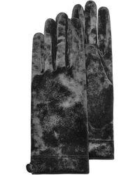 Forzieri Women'S Black Chenille Gloves black - Lyst