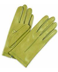Forzieri Women'S Mint Unlined Italian Leather Gloves - Lyst