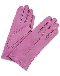 Forzieri Women'S Purple Unlined Italian Leather Gloves - Lyst