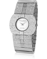 Haurex - Honey Round - Crystal Stainless Steel Dress Watch - Lyst